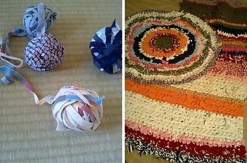 編み編みバスマット