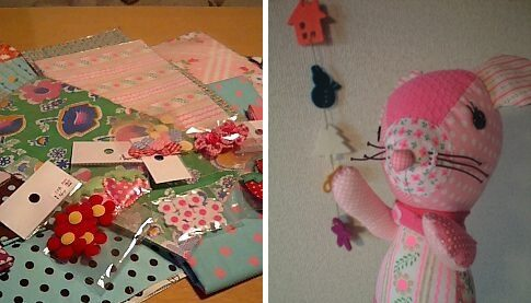 pinksで買った布