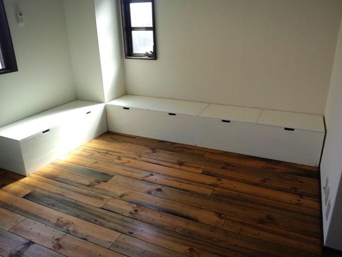 床板張り完成!