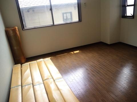 施工前の床はクッションフロア