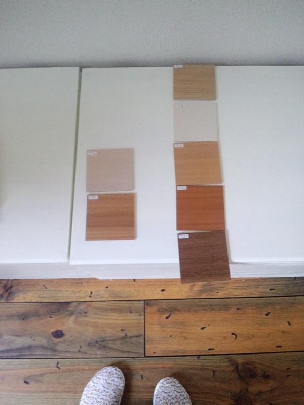 造作家具の扉面材サンプル