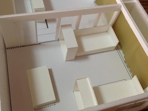 程良い距離感の家模型