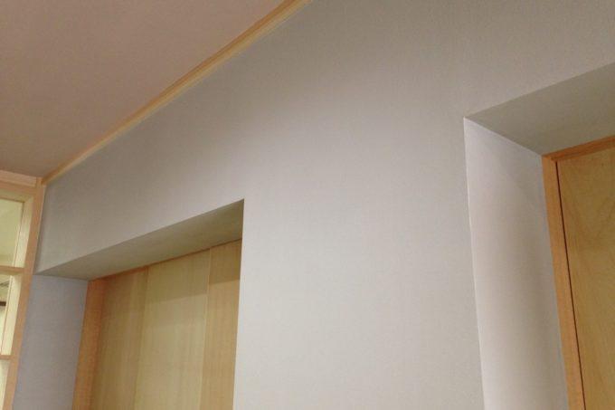 漆喰塗料の補修確認