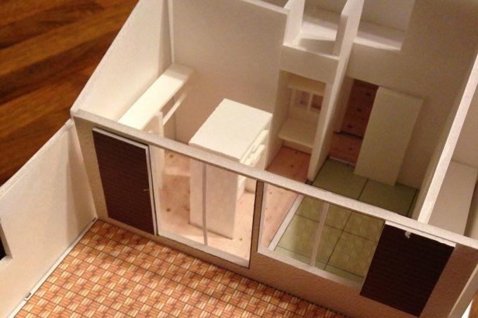 リノベーションの住宅模型
