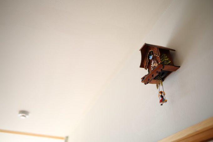 漆喰塗料の壁、天井もとてもきれいに維持されていました