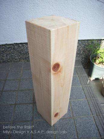 100年桧柱材(天日乾燥)