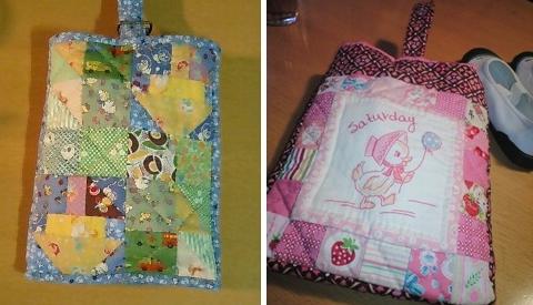 女の子用のピンクの上靴バッグ製作