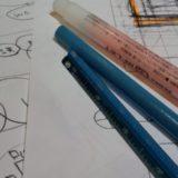 ラフデザインと鉛筆