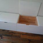 ひとつのベンチボックスにふたつの蓋