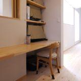 寝室と子供室と一体に使える書斎