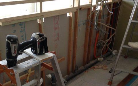 リフォーム工事、キッチン解体と設備確認