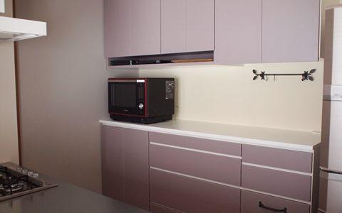 Web内覧会*霞色のキッチン背面収納