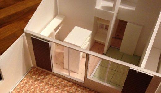 昭和ガラスの家の住宅模型
